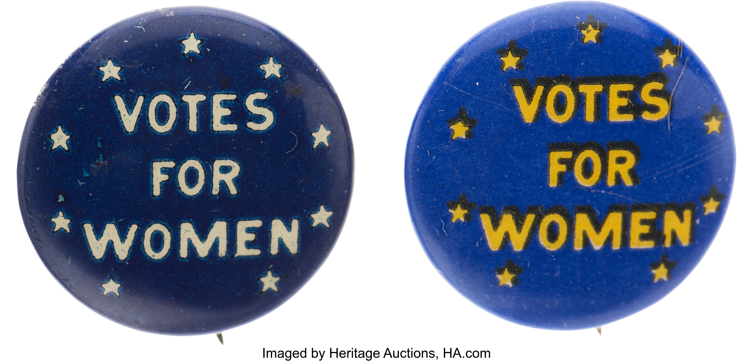 Woman S Suffrage Pair Of Uncommon Votes For Women Buttons