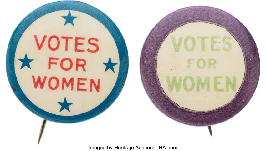 Woman S Suffrage Uncommon Votes For Women Buttons Total 2