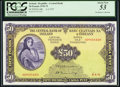 World Currency, Ireland Bank of Ireland 50 Pounds 6.4.1972 Pick 68b PCGS About New 53.. ...