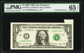 Error Notes:Foldovers, Foldover Error Fr. 1934-L $1 2009 Federal Reserve Note. PMG Gem Uncirculated 65 EPQ.. ...