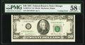 Cutting Error Fr. 2073-G* $20 1981 Federal Reserve Star Note. PMG Choice About Unc 58 EPQ
