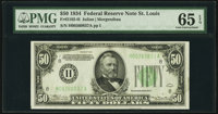 Fr. 2102-H $50 1934 Dark Green Seal Federal Reserve Note. PMG Gem Uncirculated 65 EPQ