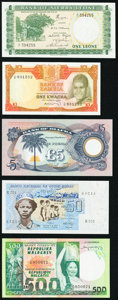 An African Quintet from Biafra, Guinea-Bissau, Madagascar, Sierra Leone, and Zambia. Crisp Uncirculated. ... (Total: 5 n...