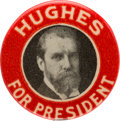 Political:Pinback Buttons (1896-present), Charles Evans Hughes: Very Scarce Picture Pin....