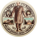 Political:Pinback Buttons (1896-present), William Jennings Bryan: Classic Lincoln to Washington Button. ...