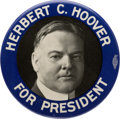 Political:Pinback Buttons (1896-present), Herbert Hoover: Large Bastian Brothers Radiator Attachment. ...