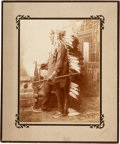 """Photography:Studio Portraits, Studio Photograph Of Red Indian Chief """"Circling Bear"""" By Barry...."""