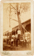 "Photography:Cabinet Photos, Over Sized Cabinet Card Of The Hanging Of Stage Coach Robbers ""The Ruggles Brothers"". ..."