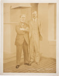 Political:Miscellaneous Political, Houdini And Theodore Roosevelt Photograph June 23, 1914....
