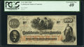 Confederate Notes:1862 Issues, T41 $100 1862 PF-20 Cr. 316A PCGS Extremely Fine 40.. ...
