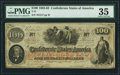 """Confederate Notes:1862 Issues, """"Iss(ued) San Antonio / Feby 1 64"""" T41 $100 1862 PF-12 Cr. 317A PMG Choice Very Fine 35.. ..."""