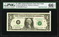 Error Notes:Foldovers, Foldover Error Fr. 1924-B $1 1999 Federal Reserve Note. PMG Gem Uncirculated 66 EPQ.. ...
