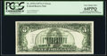 Full Face to Back Offset Error and Insufficient Inking of Face Printing Error Fr. 1975-J $5 1977A Federal Reserve Note...
