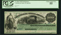 "Confederate Notes:1861 Issues, Manuscript Endorsement ""John T. Shaaff"" T3 $100 1861 Cr. 3 PCGS Choice About New 55.. ..."