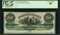 "Confederate Notes:1861 Issues, Manuscript Endorsement ""Thos. K. Jackson"" T4 $50 1861 Cr. ..."