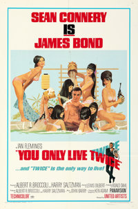"""You Only Live Twice (United Artists, 1967). Folded, Very Fine. Autographed One Sheet (27"""" X 41"""") Style C. Robe..."""