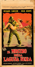 """Movie Posters:Horror, Creature from the Black Lagoon (Universal International, 1954). Rolled, Fine. Trimmed Italian Locandina (13"""" X 24.5""""). . ..."""