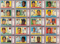 Baseball Cards:Sets, 1955 Topps Baseball PSA Graded Complete Set (206) - Only Two Cards Graded Below PSA NM-MT 8....