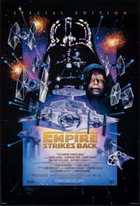 "The Empire Strikes Back (20th Century Fox, R-1997). Rolled, Very Fine+. Special Edition One Sheet (26.75"" X 39.75&q..."