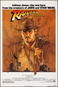 """Raiders of the Lost Ark (Paramount, 1981). Rolled, Very Fine-. One Sheet (27"""" X 41""""). Richard Amsel Artwork. A..."""