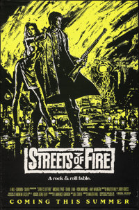 """Streets of Fire (Universal, 1984). Rolled, Very Fine-. One Sheet (27"""" X 41"""") SS Advance Green Style. Action..."""