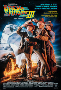 """Back to the Future Part III (Universal, 1990). Rolled, Very Fine+. One Sheet (26.75"""" X 39.75"""") DS. Drew Struza..."""