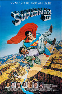 """Superman III & Other Lot (Warner Bros., 1983). Rolled, Very Fine-. One Sheets (2) (27"""" X 41"""" &..."""