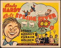 "Andy Hardy Gets Spring Fever (MGM, 1939). Folded, Fine+. Half Sheet (22"" X 28""). Comedy"