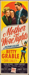 """Movie Posters:Musical, Mother Wore Tights (20th Century Fox, 1947). Folded, Very Fine-. Insert (14"""" X 36""""). Musical.. ..."""