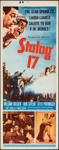 """Movie Posters:War, Stalag 17 (Paramount, 1953). Folded, Very Fine-. Insert (14"""" X 36""""). War.. ..."""