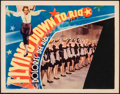 "Movie Posters:Musical, Flying Down to Rio (RKO, 1933). Very Good/Fine. Lobby Card (11"" X 14""). Musical.. ..."