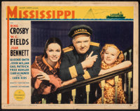 """Mississippi (Paramount, 1935). Fine+. Lobby Card (11"""" X 14""""). Comedy"""