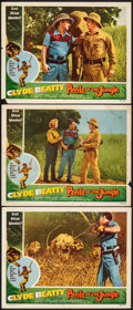 """Movie Posters:Adventure, Perils of the Jungle (Commodore, 1953). Fine+. Lobby Cards (3) (11"""" X 14""""). Adventure.. ... (Total: 3 Items)"""