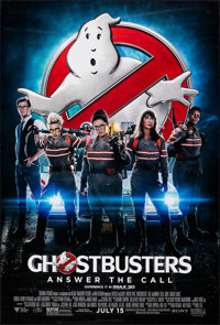"Ghostbusters: Answer the Call (Sony, 2016). Rolled, Very Fine+. One Sheet (27"" X 40"") DS, Advance. Comedy"