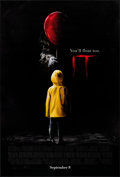 """Movie Posters:Horror, It (New Line, 2017). Rolled, Very Fine+. One Sheet (27"""" X 40"""") DS, Advance. Horror.. ..."""