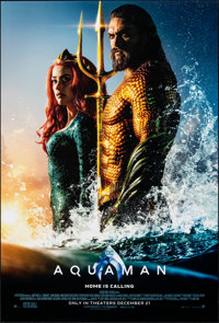 """Aquaman (Warner Bros., 2018). Rolled, Very Fine+. One Sheet (27"""" X 40"""") DS Advance. Action"""