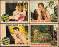 """Movie Posters:Adventure, Aloma of the South Seas & Other Lot (Paramount, 1941). Fine+. Lobby Cards (4) (11"""" X 14""""). Adventure.. ... (Total: 4 Items)"""