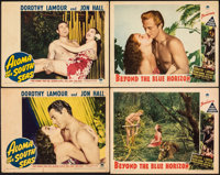 "Aloma of the South Seas & Other Lot (Paramount, 1941). Fine+. Lobby Cards (4) (11"" X 14""). Adventure..."