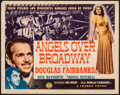 """Movie Posters:Drama, Angels Over Broadway (Columbia, 1940). Very Fine-. Title Lobby Card (11"""" X 14""""). Drama.. ..."""
