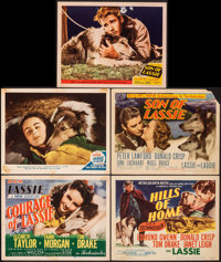 """Courage of Lassie & Other Lot (MGM, 1946). Fine+. Title Lobby Cards (3) & Lobby Cards (2) (11"""" X 14"""")..."""