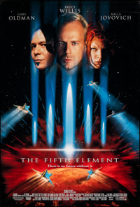 "The Fifth Element (Columbia, 1997). Rolled, Very Fine+. One Sheet (26.75"" X 39.75"") DS. Science Fiction"