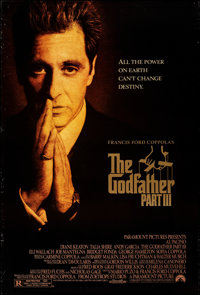 "The Godfather Part III (Paramount, 1990). Rolled, Very Fine-. One Sheet (27"" X 40"") DS. Crime"