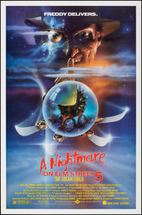 A Nightmare on Elm Street V: The Dream Child & Other Lot (New Line, 1989) SS. Rolled, Very Fine. One Sheets (2)...
