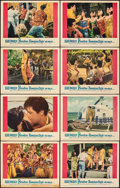 "Movie Posters:Elvis Presley, Paradise -- Hawaiian Style (Paramount, 1966). Fine/Very Fine. Lobby Card Set of 8 (11"" X 14""). Elvis Presley.. ... (Total: 8 Items)"