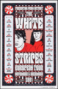 "Movie Posters:Rock and Roll, The White Stripes European Tour (2001). Very Fine/Near Mint. Autographed Concert Window Card (11"" X 17""). Rock and Roll.. ..."