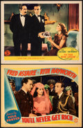 "Movie Posters:Musical, You'll Never Get Rich & Other Lot (Columbia, 1941). Very Fine-. Lobby Cards (2) (11"" X 14""). Musical.. ... (Total: 2 Items)"