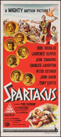 """Movie Posters:Action, Spartacus (Universal International, 1960). Folded, Very Fine-. Australian Daybill (13"""" X 30""""). Action.. ..."""