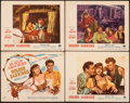 "Movie Posters:Romance, Golden Earrings (Paramount, 1947). Fine/Very Fine. Title Lobby Card & Lobby Cards (3) (11"" X 14""). Romance.. ... (Total: 4 Items)"