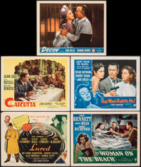 "Lured & Other Lot (United Artists, 1947). Fine/Very Fine. Title Lobby Card & Lobby Cards (4) (11"" X..."