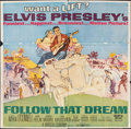 "Movie Posters:Elvis Presley, Follow That Dream (United Artists, 1962). Folded, Fine. Six Sheet (80"" X 79""). Elvis Presley.. ..."